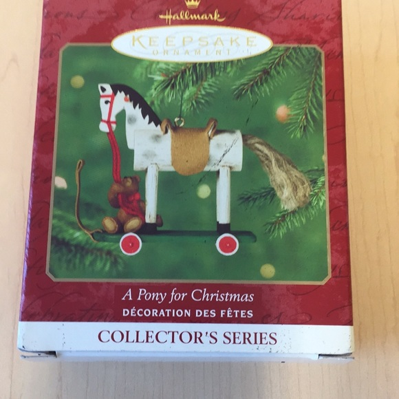2002 Hallmark Ornament A Pony For Christmas #5 in Series
